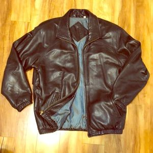 Vintage Preston & York Men's Lambskin Bomber Coat